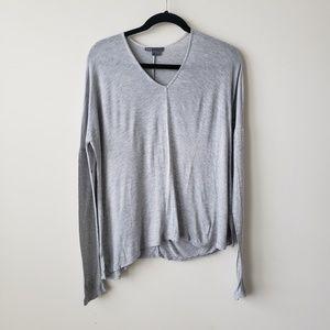 Vince v-neck light long sleeve grey  tshirt  S